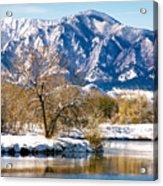 Colorado Flatirons 2 Acrylic Print by Marilyn Hunt