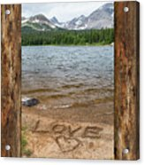 Colorado Love Window  Acrylic Print