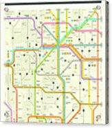 Colorado Map Acrylic Print