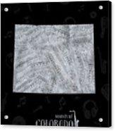 Colorado Map Music Notes 2 Acrylic Print