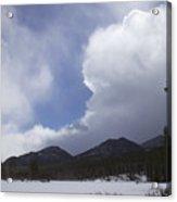 Colorado Mountain Clouds Acrylic Print