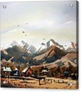 Colorado Mountain Ranch Acrylic Print