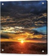 Colorado Plains Sunset Acrylic Print