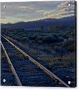 Colorado Railroad Crossing Acrylic Print