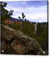 Colorado Red Rocks Acrylic Print by Barbara Schultheis