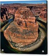 Colorado River Circles Horseshoe Bend Page Arizona Usa Acrylic Print