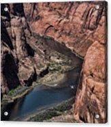 Colorado River Horseshoe Bend Color  Acrylic Print