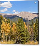 Colorado Rockies National Park Fall Foliage Panorama Acrylic Print