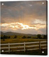 Colorado Rocky Mountain Country Sunset Acrylic Print by James BO  Insogna