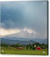 Colorado Rocky Mountain Red Barn Country Storm Acrylic Print