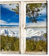 Colorado Rocky Mountain Rustic Window View Acrylic Print