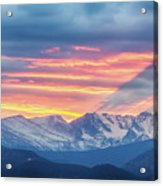 Colorado Rocky Mountain Sunset Waves Of Light Part 1 Acrylic Print