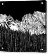 Colorado Rocky Mountains Indian Peaks Fine Art Bw Print Acrylic Print