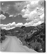 Colorado Shelf Road 1 B-w Acrylic Print