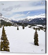 Colorado Snow Scene Acrylic Print