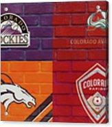 Colorado Sports Teams On Brick Acrylic Print