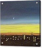 Colorado Spring Night Skyline Acrylic Print