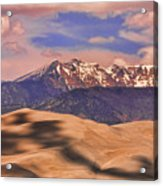 Colorado's Great Sand Dunes Shadow Of The Clouds Acrylic Print