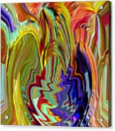 Colorburst Vase Acrylic Print
