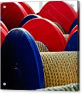 Colored Boat Ropes Acrylic Print