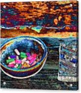 Colored Chalk Acrylic Print