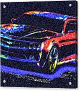 Colored Chevy Faa2 Acrylic Print