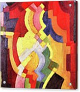 Colored Forms IIi By August Macke Acrylic Print