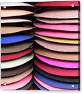 Colored Hat Brims Acrylic Print