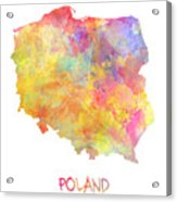 Colored Map Of Poland Acrylic Print