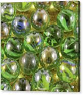 Colored Marbles Acrylic Print