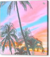 Colored Palms Acrylic Print