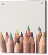 Colored Pencils Acrylic Print
