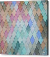 Colored Roof Tiles - Painting Acrylic Print