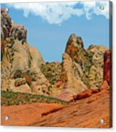 Colored Sandstones Valley Of Fire Acrylic Print