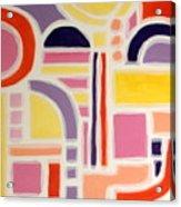 Colorful Abstract Art - Urban Maze Acrylic Print