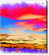 Colorful Abstract Sunset Acrylic Print