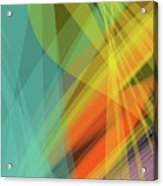 Colorful Abstract Vector Background Banner, Transparent Wave Lin Acrylic Print