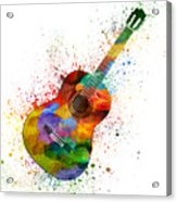 Colorful Acoustic Guitar 02 Acrylic Print