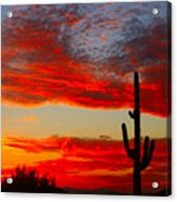 Colorful Arizona Sunset Acrylic Print