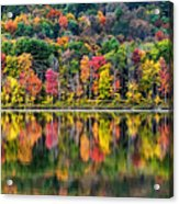 Colorful Autumn Reflections Acrylic Print