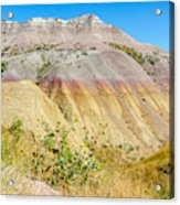 Colorful Badlands Of South Dakota Acrylic Print