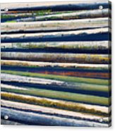 Colorful Bamboo Acrylic Print by Wim Lanclus
