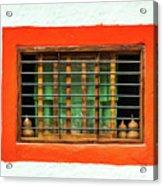 Colorful Bared Window Acrylic Print