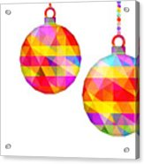 Colorful Baubles - 66 Acrylic Print