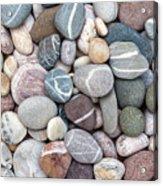 Colorful Beach Pebbles Acrylic Print