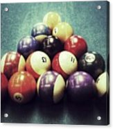 Colorful Billiard Balls Acrylic Print