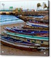 Colorful Boats Acrylic Print