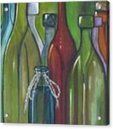 Colorful Bottles Acrylic Print