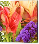 Colorful Bouquet Of Flowers Acrylic Print