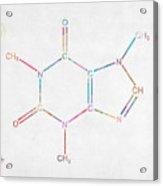 Colorful Caffeine Molecular Structure Acrylic Print